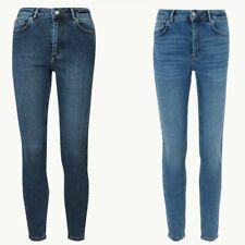 Ladies M&S PER UNA High Waist Authentic Skinny Jeans Indigo Sizes 6 - 24