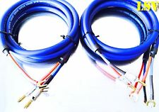 NEW Van Damme Blue Series Studio 2x4mm  Speaker Cable 2x3m - Terminated