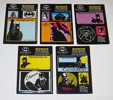 25x BATMAN RETURNS FULL SETS BONUS STICKERS + BASE STICKER DYNAMIC TRADING CARD