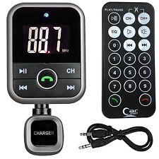Bluetooth FM Transmitter MP3 Player Wireless Modulator USB SD LCD Car Kit Black