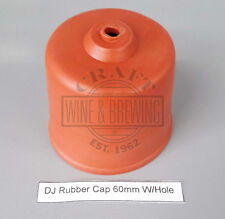 Homebrew Demijohn Rubber Cap 60mm Diameter With Hole To Fit Fermentation Airlock