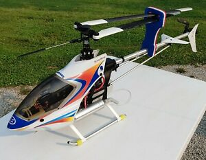 Vintage HIROBO Super Performance 50 Large R/C Gas Helicopter NICE-LOOKING!!