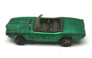 1968 Hot Wheels Redline Custom Firebird Green Diecast Car Vintage Mattel USA