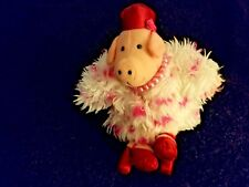 "OPI Pink Diva Pig with Fur Coat Red Hat High Heels & Pink Pearls 10"" Tall Plush"