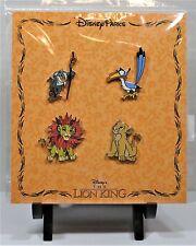 Disney Lion King Simba & Nala Rafiki & Zazu Booster 4 Pin Set Sealed NEW CUTE