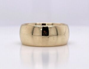 ARTCARVED 14K YELLOW GOLD COMFORT FIT BAND 11.9 GRAMS