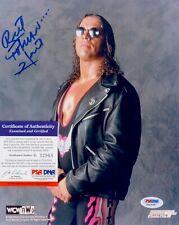 Bret Hitman Hart WWE WWF Signed AUTOGRAPH 8 x 10 Photo PSA DNA