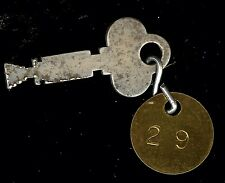 Gamewell Fire Alarm Telegraph Call Box Key Brass Number Police Fob