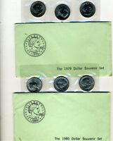 1979 & 1980 Susan B Anthony Souvenirs Set with Envelope