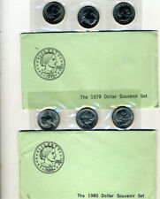 1979 & 1980 Susan B Anthony Souvenirs Set with Envelope