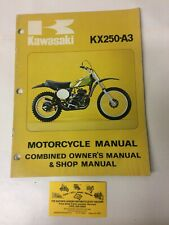 Used 1975 Kawasaki Kx250 Motorcycle Owner's & Shop Manual Oem 99997-876-01 (Fits: Kawasaki)