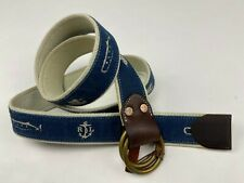 Polo Ralph Lauren Men's Nautical Ships Dyed Rope Belt Leather Size XL Rustic NWT