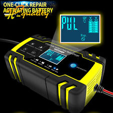 Motorcycle Car Pulse Repair Charger LCD Display Touch Screen Lead Acid Battery