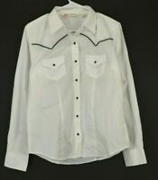 Cumberland Outfitters Women's Small Long Sleeve Pearl Snap Western Button Up
