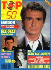 TOP 50 1987 (sans le poster): MICHEL SARDOU_BEE GEES_JEAN-LUC LAHAYE_JILL CAPLAN