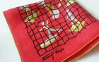 Vintage Mid Century Hankie Signed Tammis Keefe Nautical, Sailors, Ships MCM