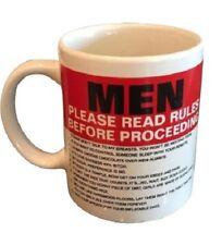 MEN PLEASE READ RULES BEFORE PROCEEDING Novelty Coffee Cup / Mug