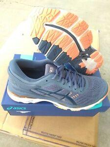 Asics Woman's Gel Kayano 24 running shoes Smoke Blue Size 7 US