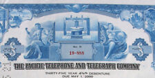 The Pacific Telephone and Telegraph Company debenture histor. empréstito 1982 EE. UU.