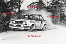 Walter Rohrl ALITALIA FIAT 131 Abarth Rally San Remo 1979 fotografia 2