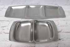 2 Vintage Large Stainless Steel Divided Trays Platters Chichester & Old Hall G6E