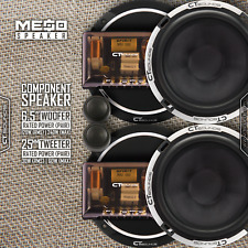 CT Sounds Meso 6.5 Inch Full Range Car Audio Component Speaker Complete Door Set