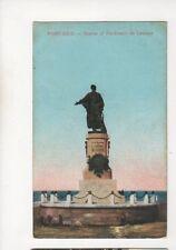 Port Said Statue Of Ferdinand De Lesseps Egypt Vintage Postcard 367b