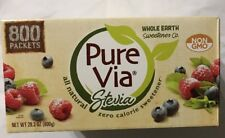 Pure Via Stevia Sweetener 28.2oz (800 packets) 28.2 Oz ( Free Exped Shipping)