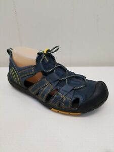 Ozark Trail 7 Sandals Shoes Closed Toe Outdoor Casual Walking Hiking Blue Yellow
