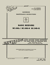 REPRINT AN 16-40BC348-3 RADIO RECEIVERS BC-348-J, N, Q, HDBK OF MAINT INST