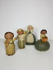 "Fitz & Floyd Ff Japan Stoneware Figurines ~5.5"" Collectibles Lot Of 4 Vintage"