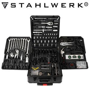 STAHLWERK Werkzeugkoffer Werkzeugtrolley Werkzeugkasten Einsteiger Set 186 Teile