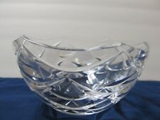 Faberge Etched Mark Clear Glass Bowl Swags Xlnt Condition