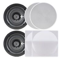 """NEW Pyle PDIC106 Two 10.0"""" In-Wall-Ceiling Mount Speakers 250W 2-Way Flush Mount"""