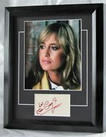 'A781SG SUSAN GEORGE SIGNED FRAMED GUARANTEED AUTHENTIC AUTOGRAPH AFTAL DEALER