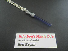 **STAR WARS LEGO JEWELLERY**SILVER NECKLACE WITH PURPLE LEGO LIGHT SABER CHARM**