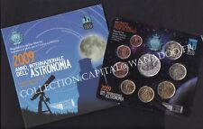 San Marin BU 2009 Astronomie Coffret 9 pièces: 1ct à 2€ + 5€ en Argent