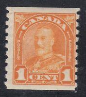 "Canada MINT OG Scott #178  1 cent orange  ""KGV Leaf COIL""   F"