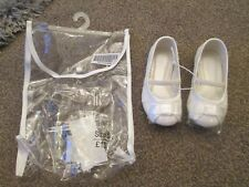 Toddler girls shoes size 5 ivory cream glitter wedding christening BNWT party