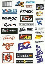 "Sticker Decal Sticker Set ( Spod ) "" Motorsport Mix "" - Modelling, Stickerbomb"