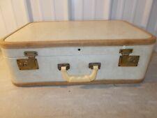 VINTAGE Luggage Train Travel Suitcase CELLULOID BAKELITE HANDLE