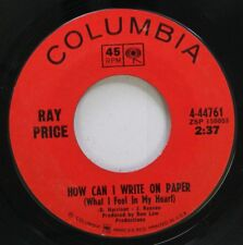 Country 45 Ray Price - How Can I Write On Paper / Sweetheart Of The Year On Colu