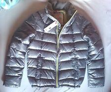 Esprit Winterjacke Winter M 48 silber zitronengelb shiny extra warm leicht NEU