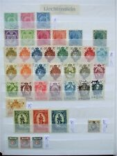 Liechtenstein Sammlung - Europe Liechtenstein Collection 460 different stamps