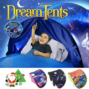 Kids Dream Tents Unicorn Space Foldable Pop up Outdoor Playhouse Camp Bed Gifts