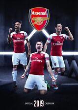 Brand new official 2019 A3 Wall Calendar - Arsenal Football Club FC Gunners