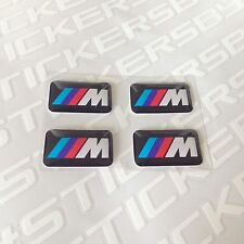 4x BMW M 3D sticker set rims wheels badge emblem