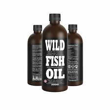 Wild Fish Oil, Delicious Lemon Omega-3 DPA/EPA/DHA Oil - 16 oz - Friends of The