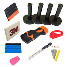 Car Wrap Vinyl Window Tinting Installation Tools Kit 3M Squeegee Cutter 4 Magnet