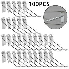 100xslatwall Hooks Hangers Slatwall Accessories Hanging Hooks For Garage Store